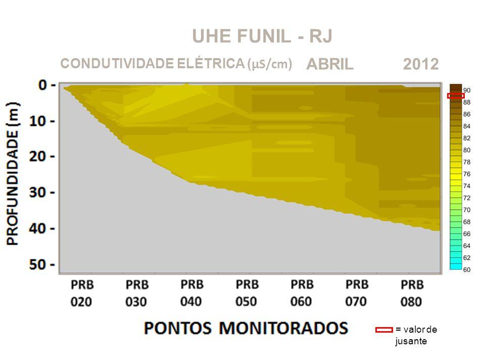 UHE FUNIL - RJ ABRIL 2012 CONDUTIVIDADE ELÉTRICA (μS/cm)
