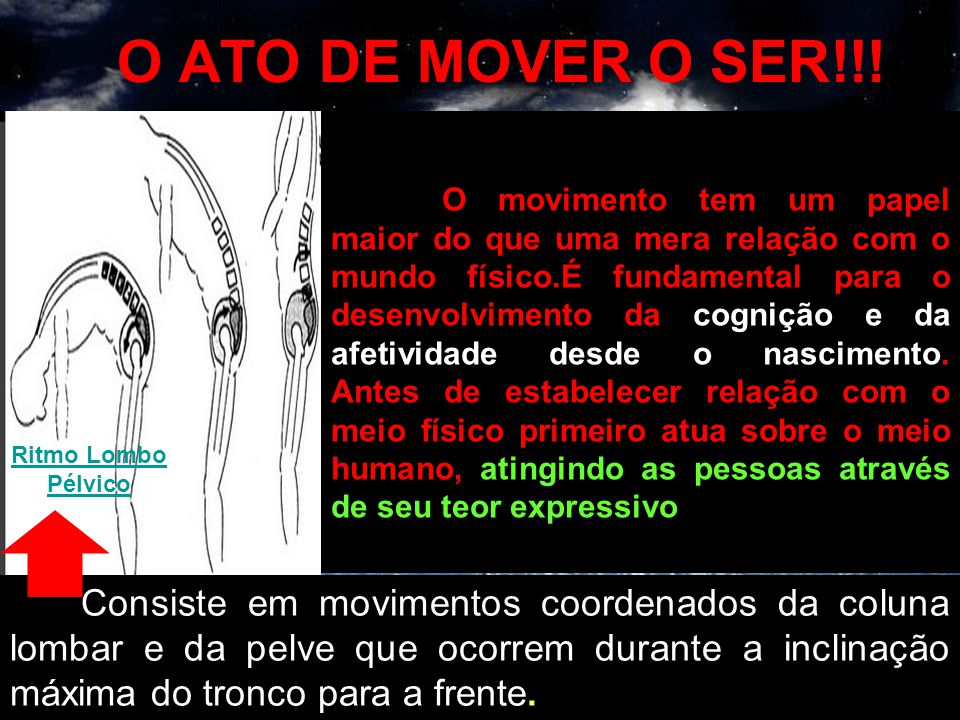 O ATO DE MOVER O SER!!!