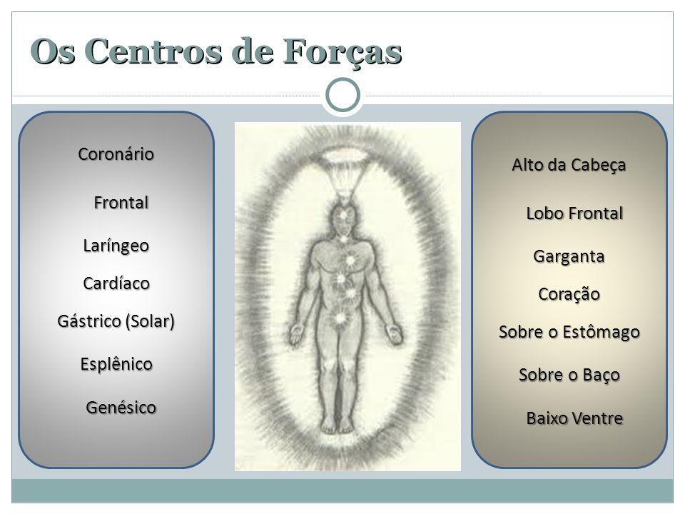 Os Centros de Forças Coronário Alto da Cabeça Frontal Lobo Frontal