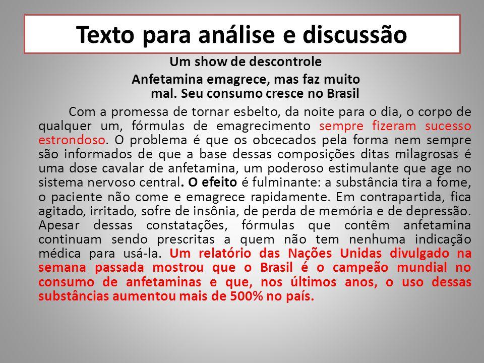 Texto para análise e discussão