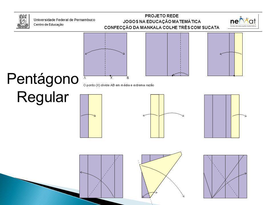 Pentágono Regular O pentágono regular, aplicando a relação áurea que existe neste polígono. 8