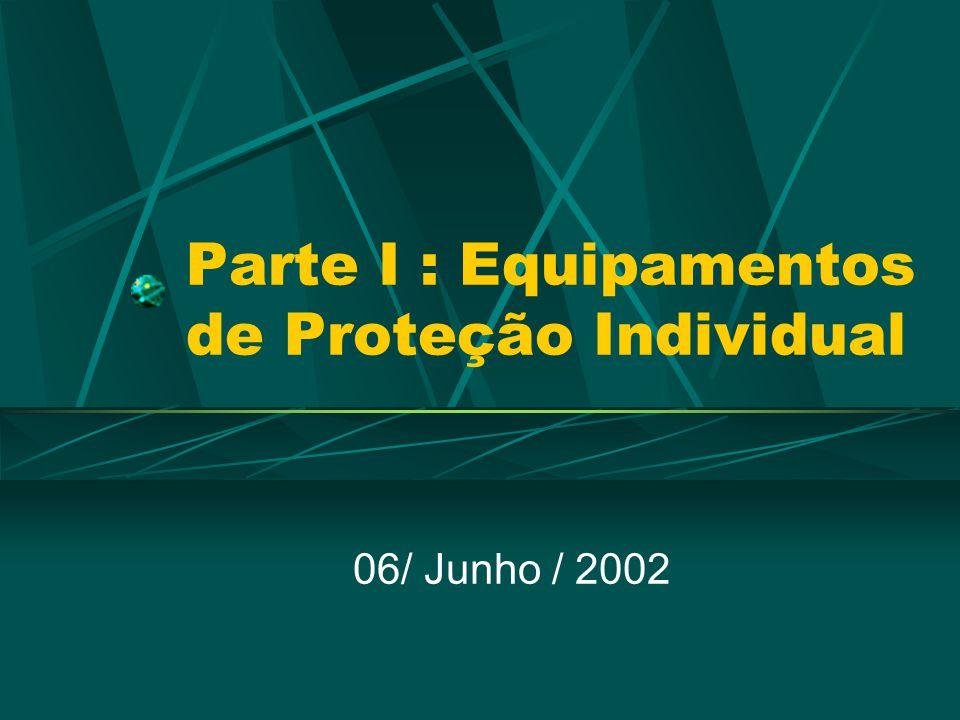 Parte I : Equipamentos de Proteção Individual