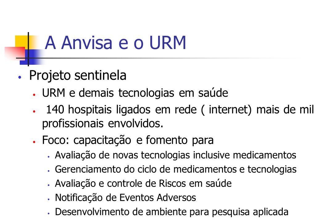 A Anvisa e o URM Projeto sentinela URM e demais tecnologias em saúde