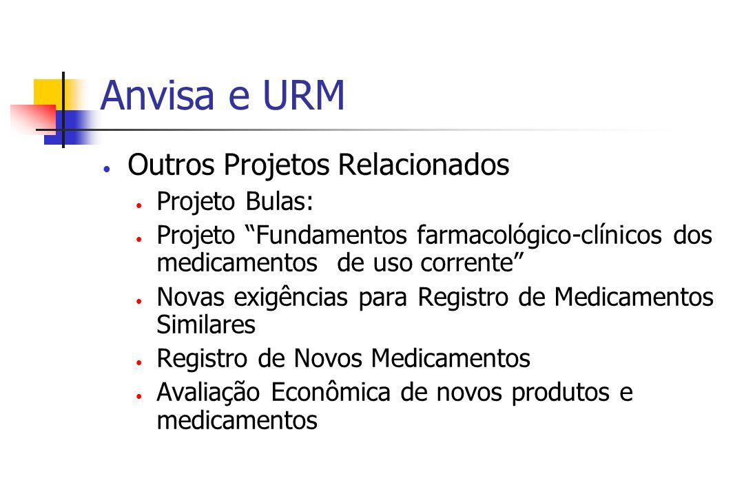 Anvisa e URM Outros Projetos Relacionados Projeto Bulas: