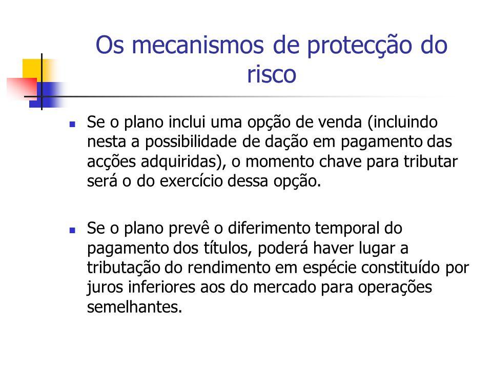Os mecanismos de protecção do risco