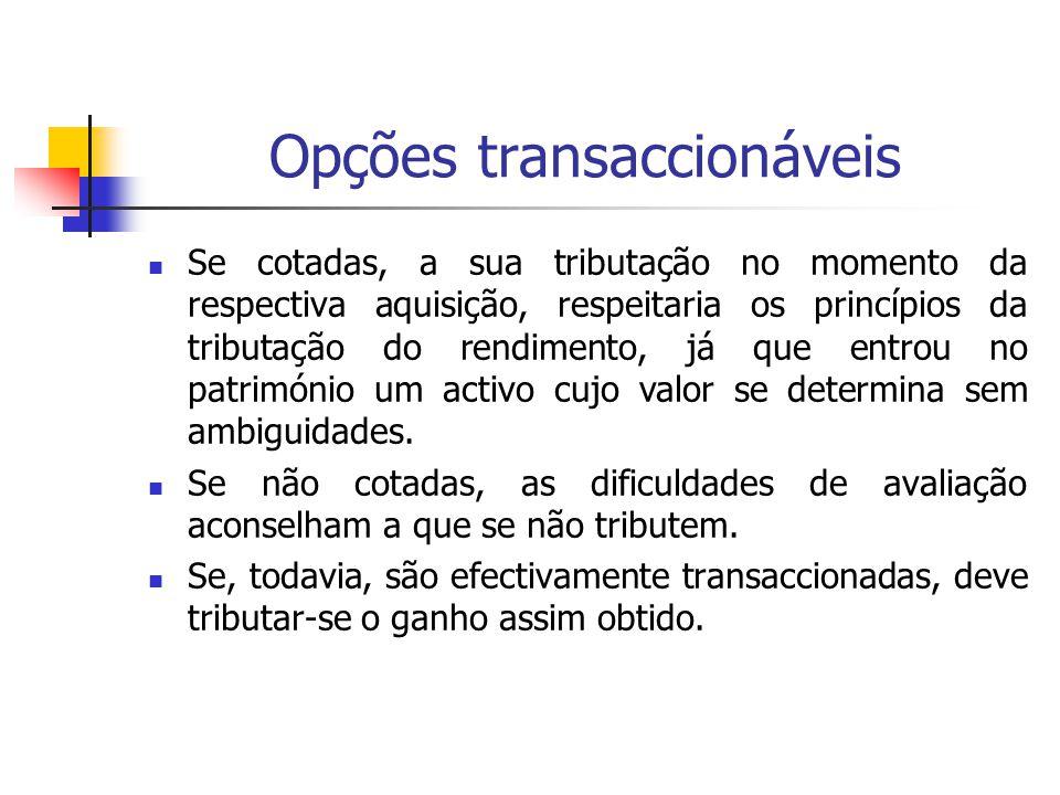 Opções transaccionáveis