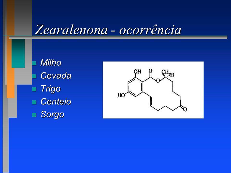 Zearalenona - ocorrência