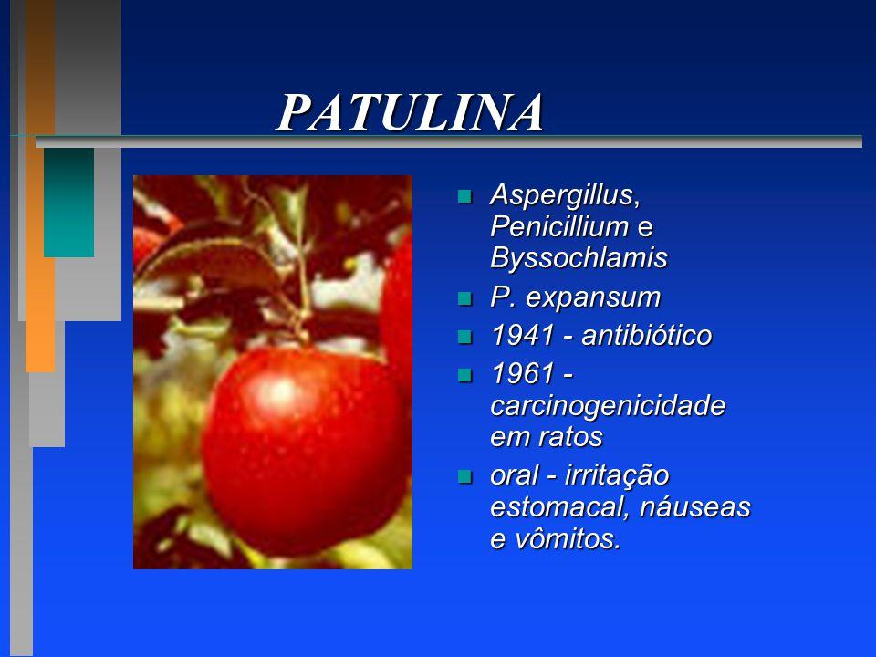 PATULINA Aspergillus, Penicillium e Byssochlamis P. expansum