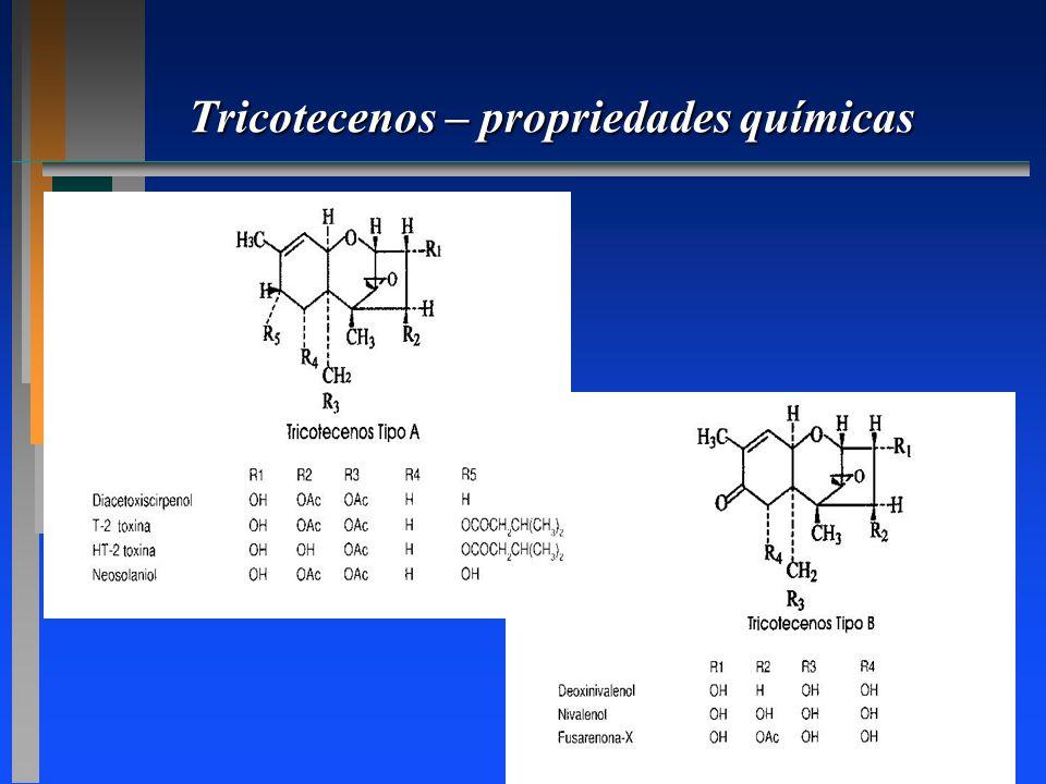 Tricotecenos – propriedades químicas