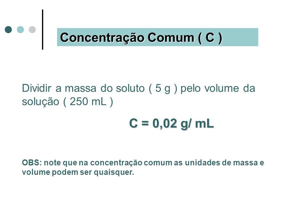 Concentração Comum ( C )