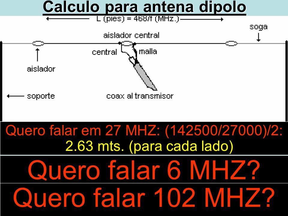 Calculo para antena dipolo