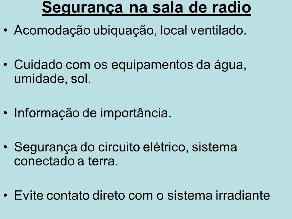 Segurança na sala de radio