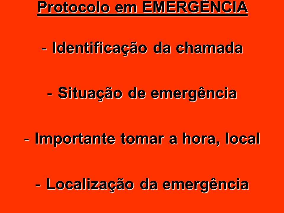 Protocolo em EMERGÊNCIA