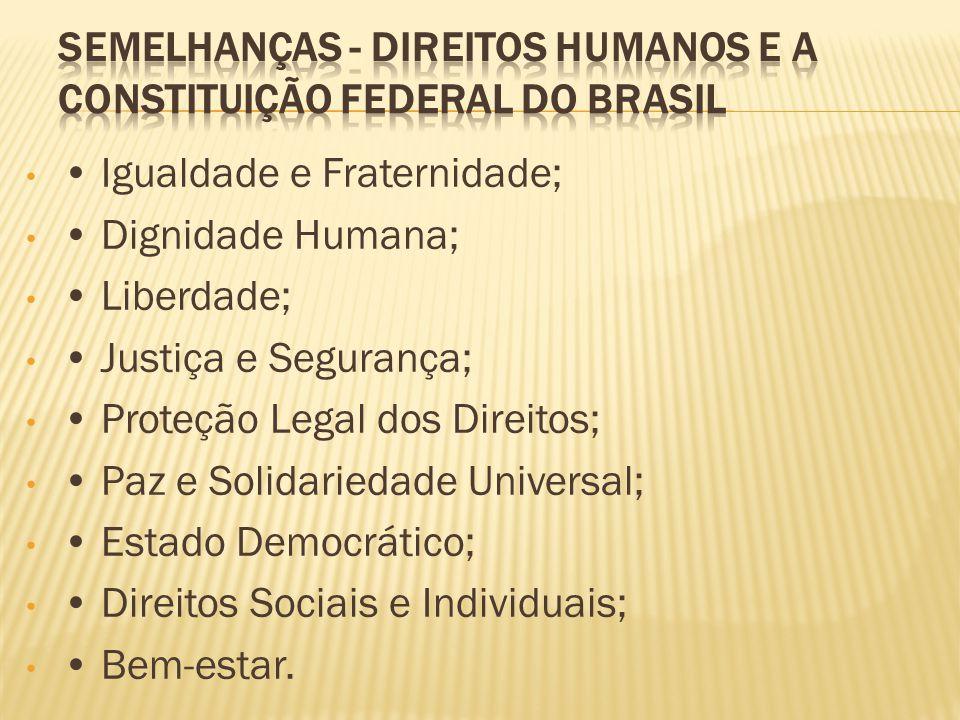 Semelhanças - Direitos Humanos e a Constituição Federal do Brasil