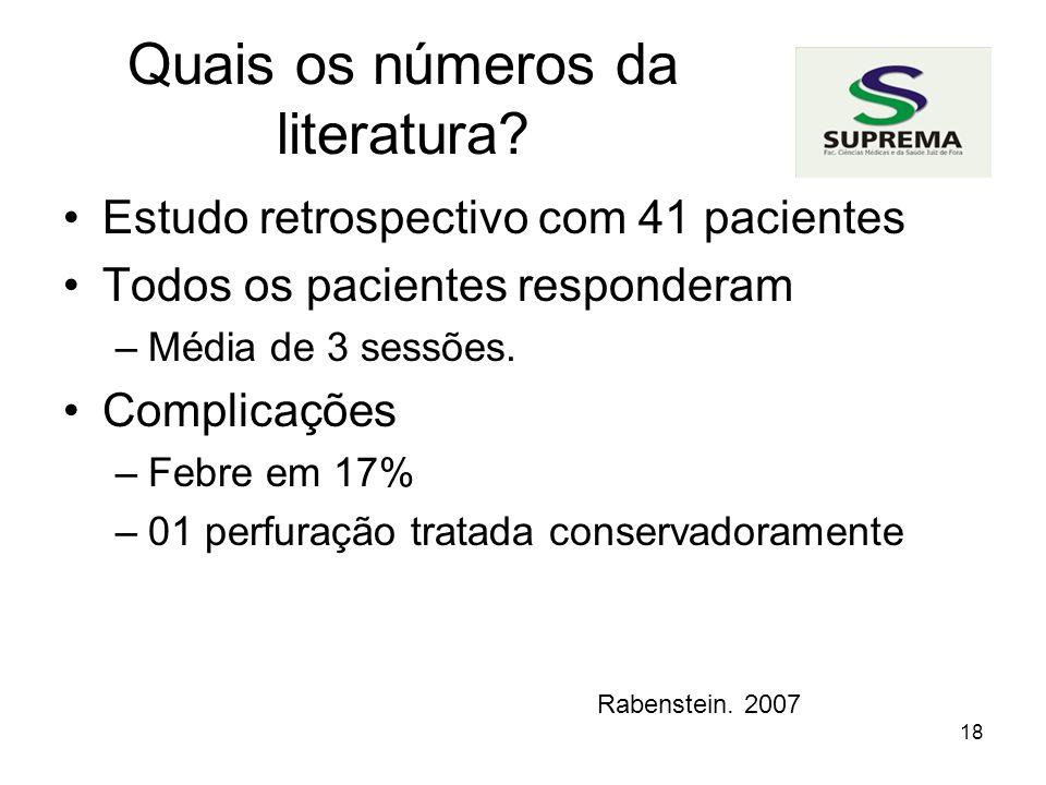 Quais os números da literatura