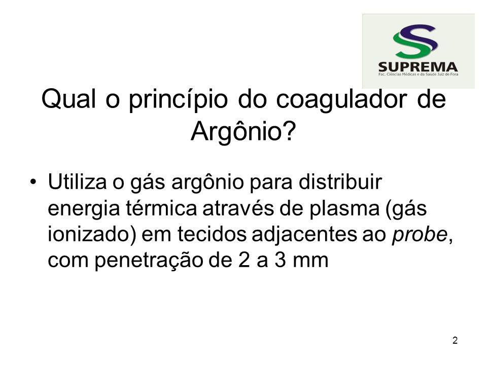 Qual o princípio do coagulador de Argônio