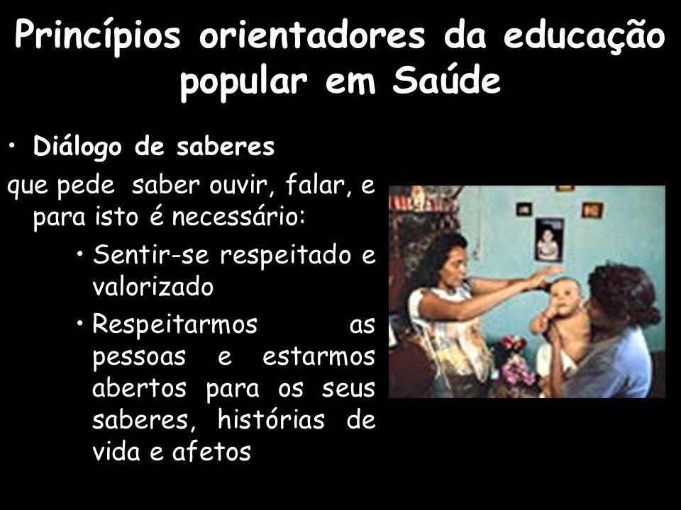 Princípios orientadores da educação popular em Saúde