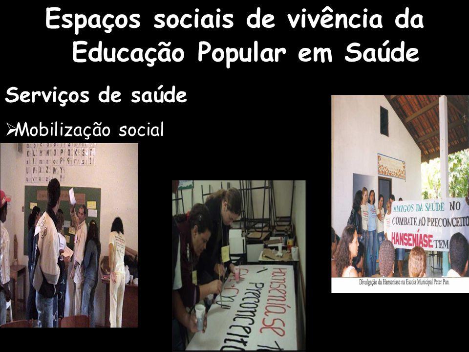 Espaços sociais de vivência da Educação Popular em Saúde
