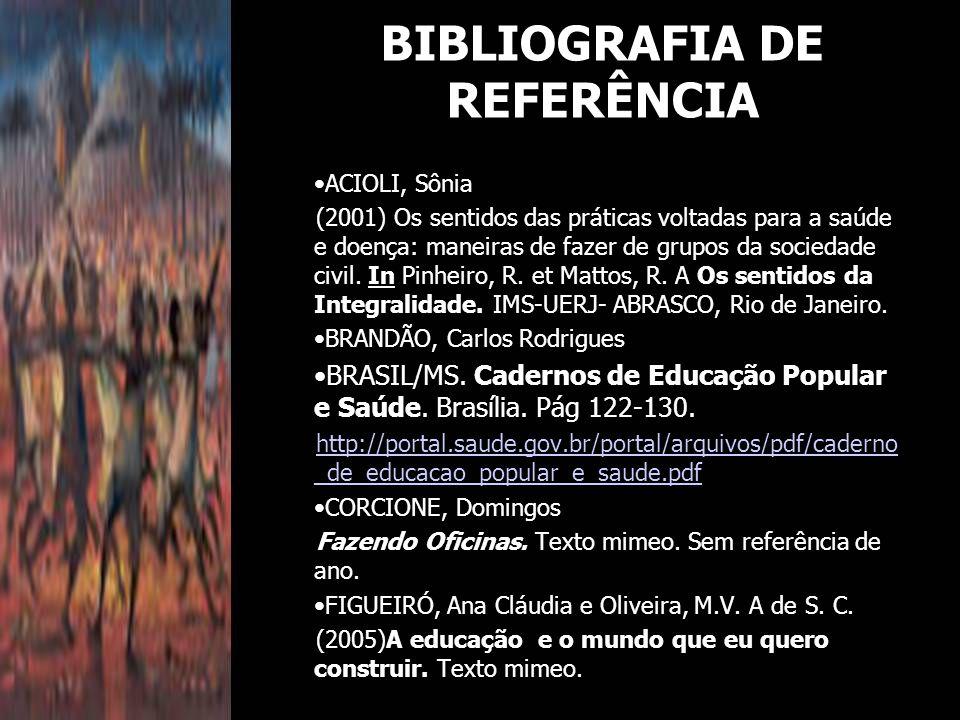 BIBLIOGRAFIA DE REFERÊNCIA