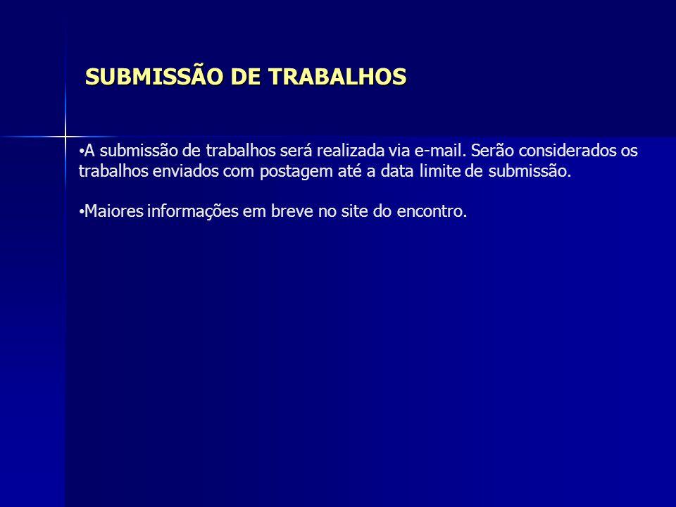 SUBMISSÃO DE TRABALHOS