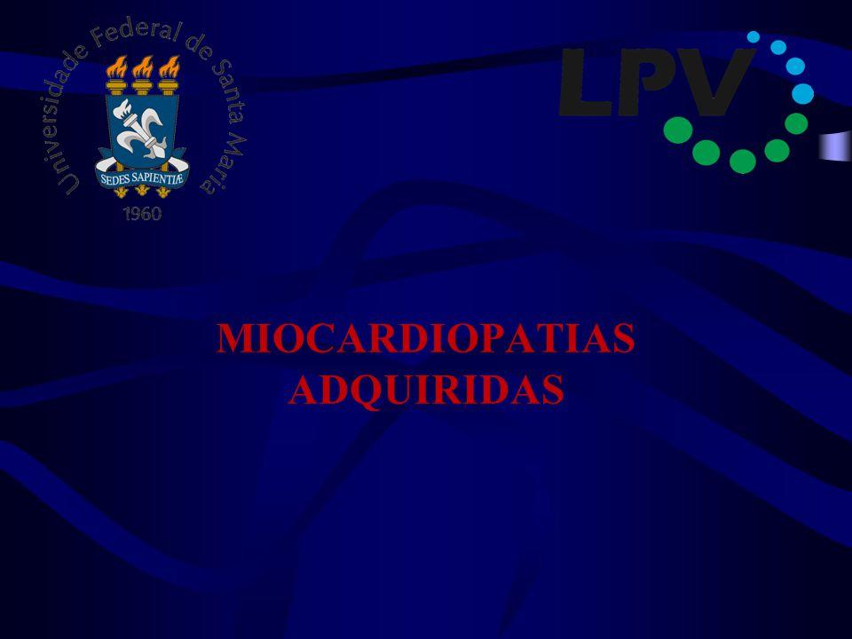 MIOCARDIOPATIAS ADQUIRIDAS