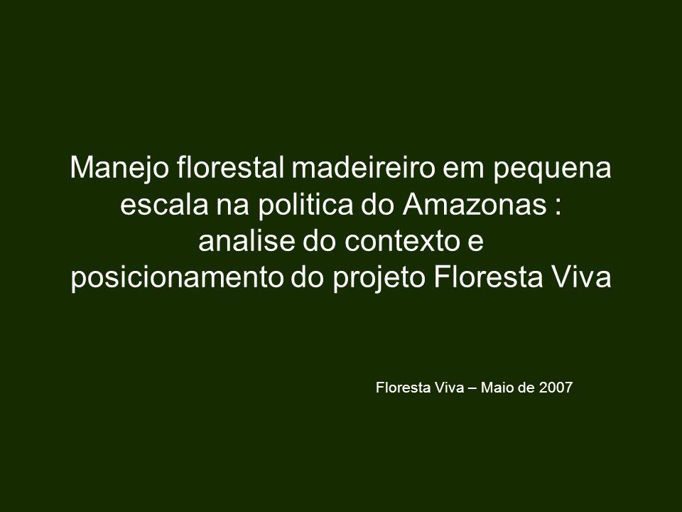Manejo florestal madeireiro em pequena escala na politica do Amazonas : analise do contexto e posicionamento do projeto Floresta Viva