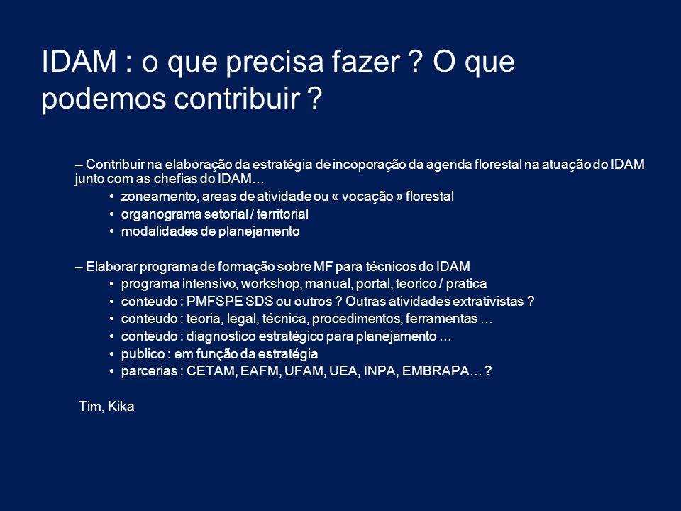 IDAM : o que precisa fazer O que podemos contribuir