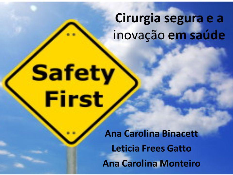 Cirurgia segura e a inovação em saúde