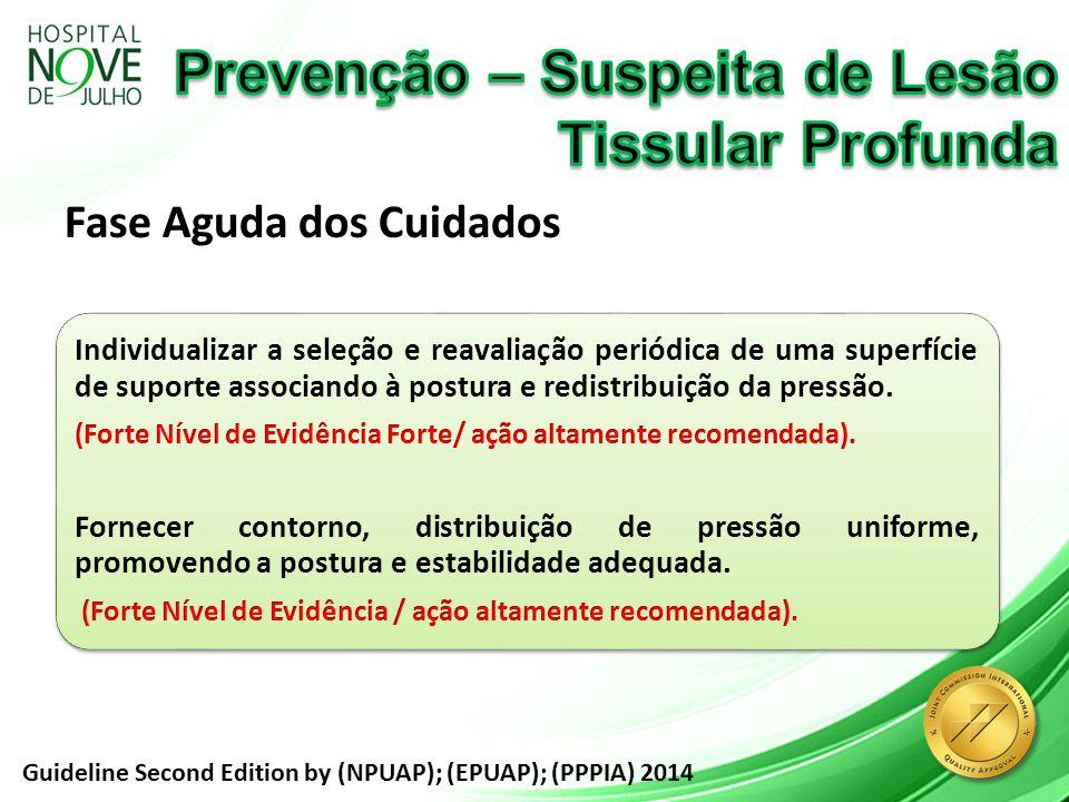 Prevenção – Suspeita de Lesão Tissular Profunda