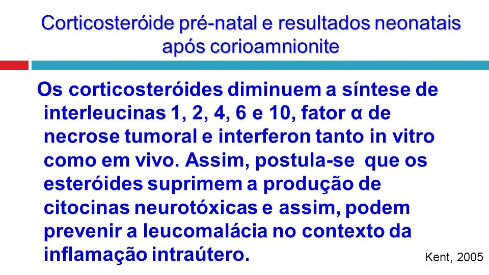 Corticosteróide pré-natal e resultados neonatais após corioamnionite