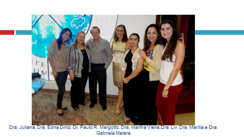 Dra. Juliana, Dra. Edna Diniz, Dr. Paulo R. Margotto, Dra