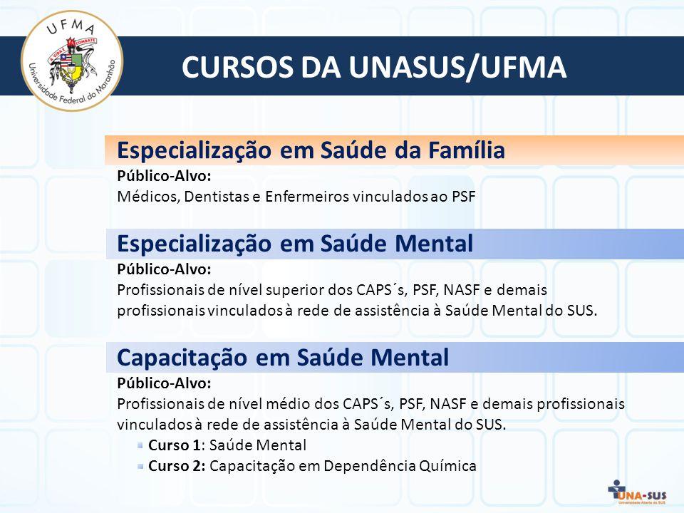 CURSOS DA UNASUS/UFMA Especialização em Saúde da Família