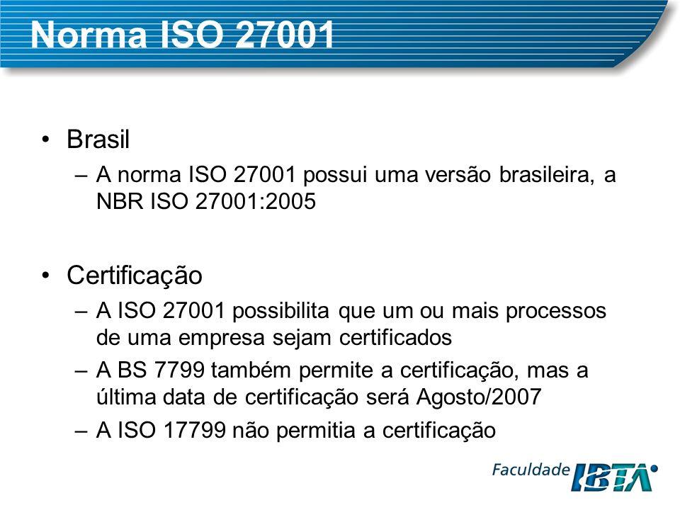 Norma ISO 27001 Brasil Certificação