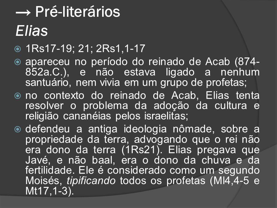 → Pré-literários Elias