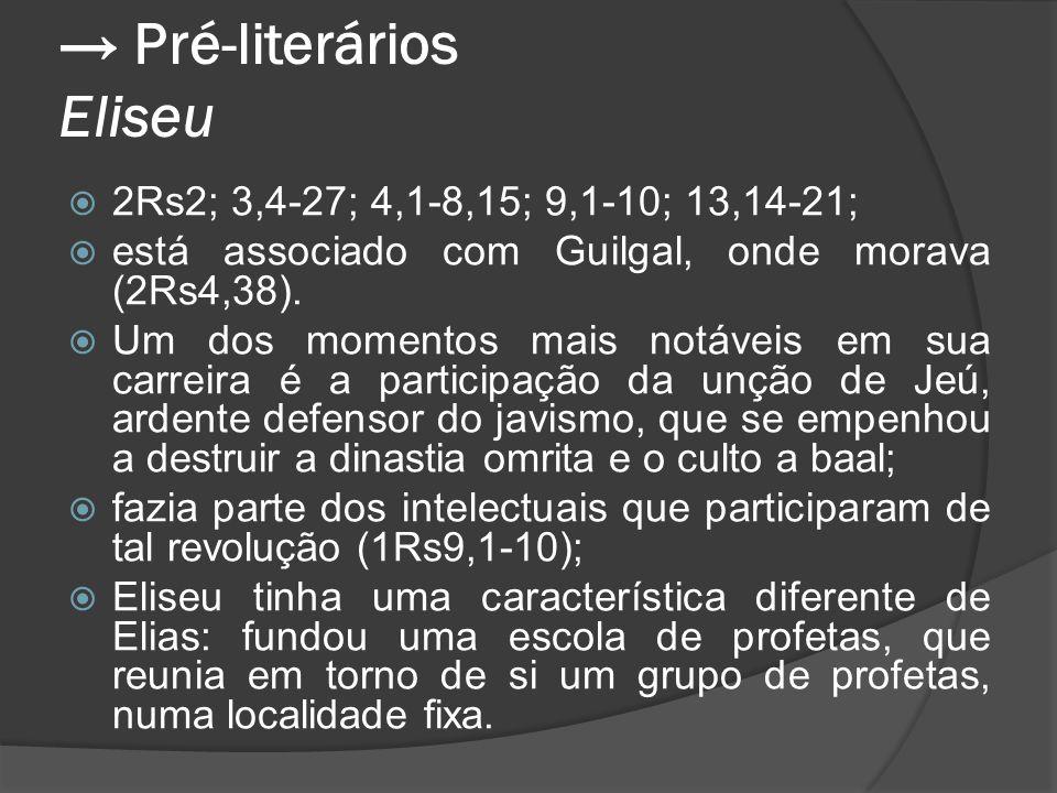 → Pré-literários Eliseu