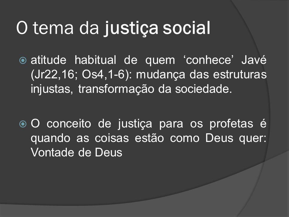 O tema da justiça social