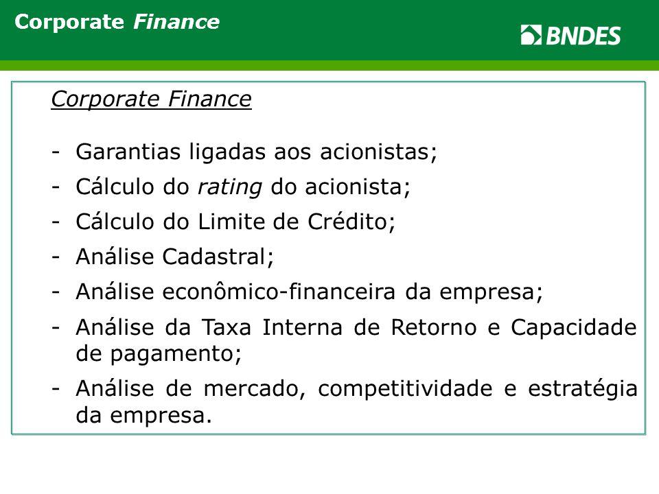 Garantias ligadas aos acionistas; Cálculo do rating do acionista;