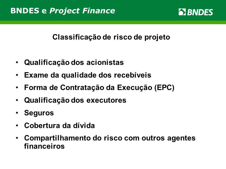 Classificação de risco de projeto