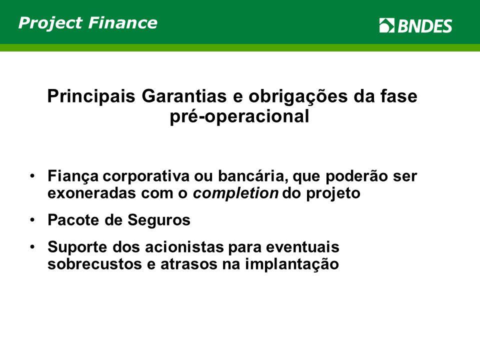Principais Garantias e obrigações da fase pré-operacional