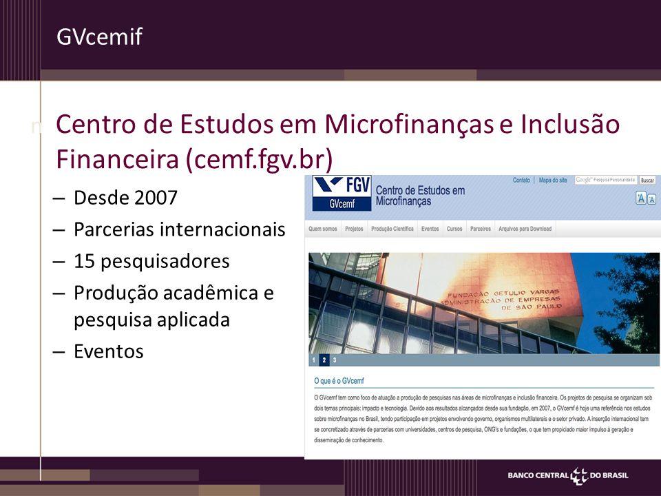 Centro de Estudos em Microfinanças e Inclusão Financeira (cemf.fgv.br)