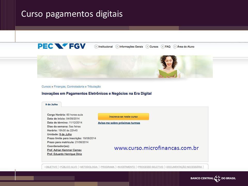 Curso pagamentos digitais
