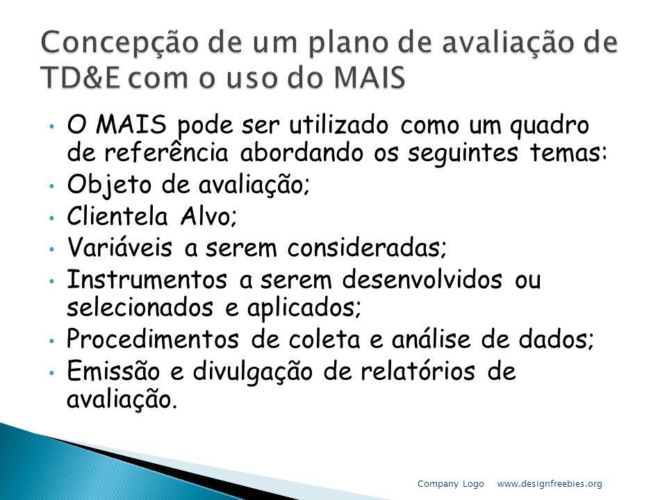 Concepção de um plano de avaliação de TD&E com o uso do MAIS