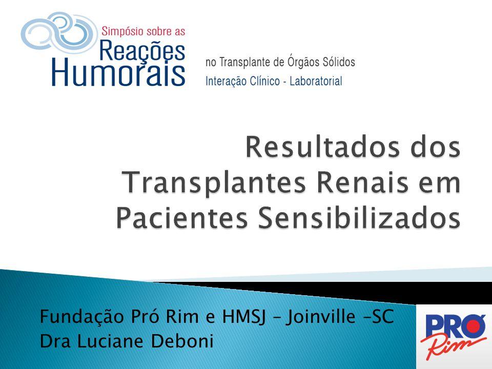 Resultados dos Transplantes Renais em Pacientes Sensibilizados