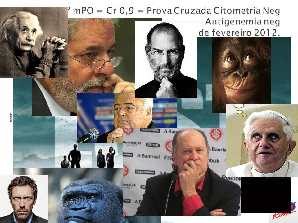 7º mPO = Cr 0,9 = Prova Cruzada Citometria Neg Antigenemia neg PRA 29 de fevereiro 2012.