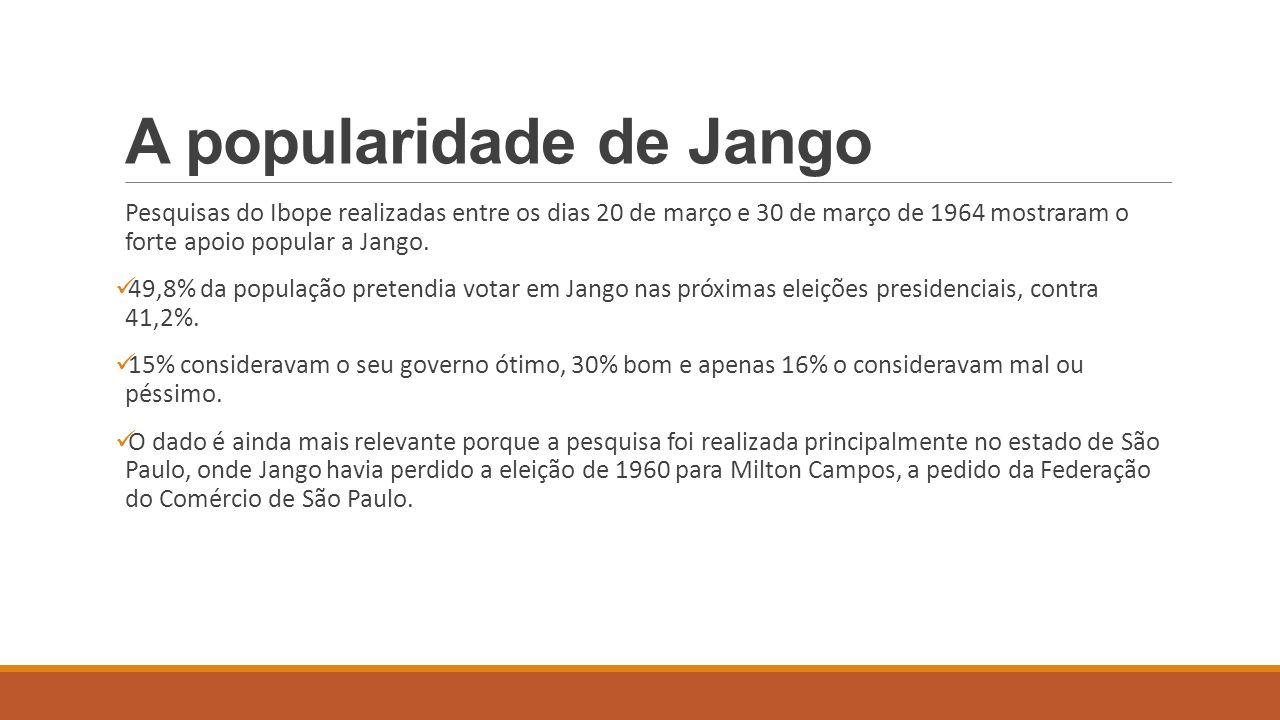 A popularidade de Jango