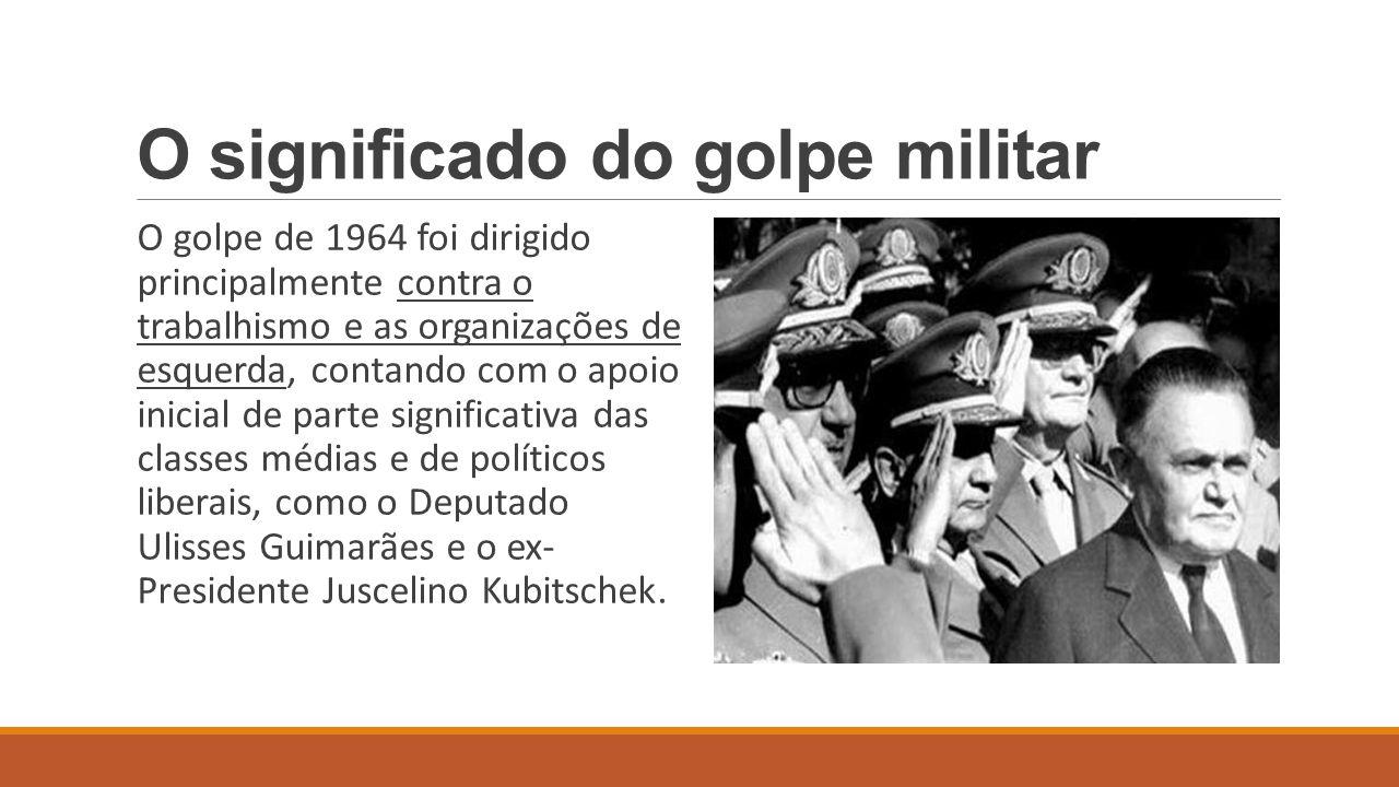 O significado do golpe militar