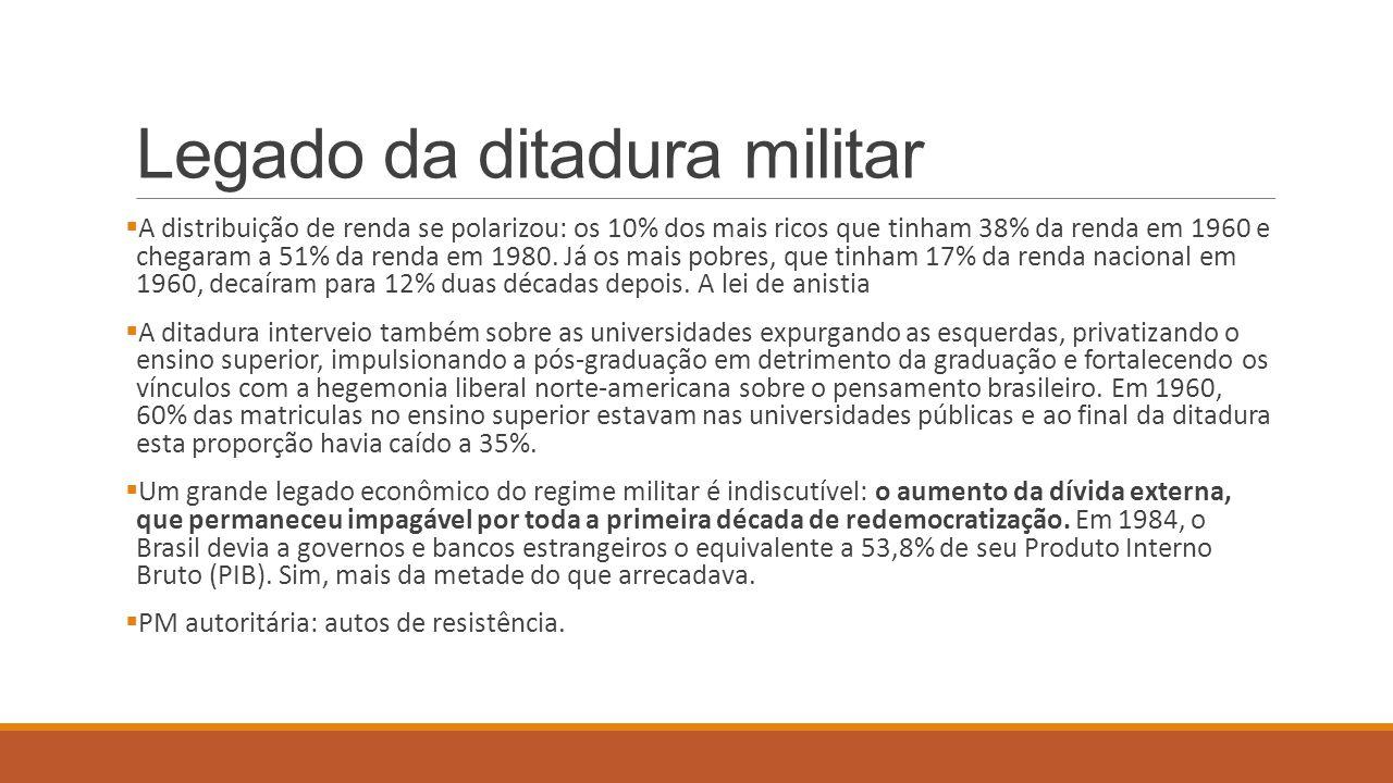 Legado da ditadura militar