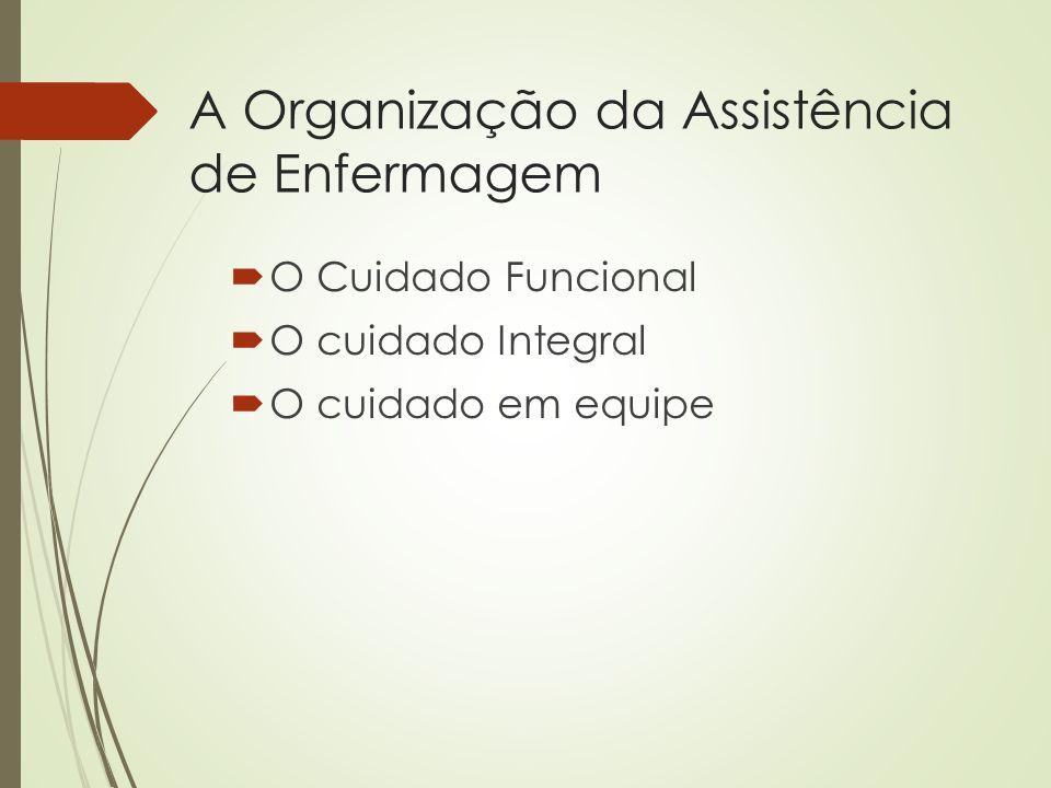 A Organização da Assistência de Enfermagem