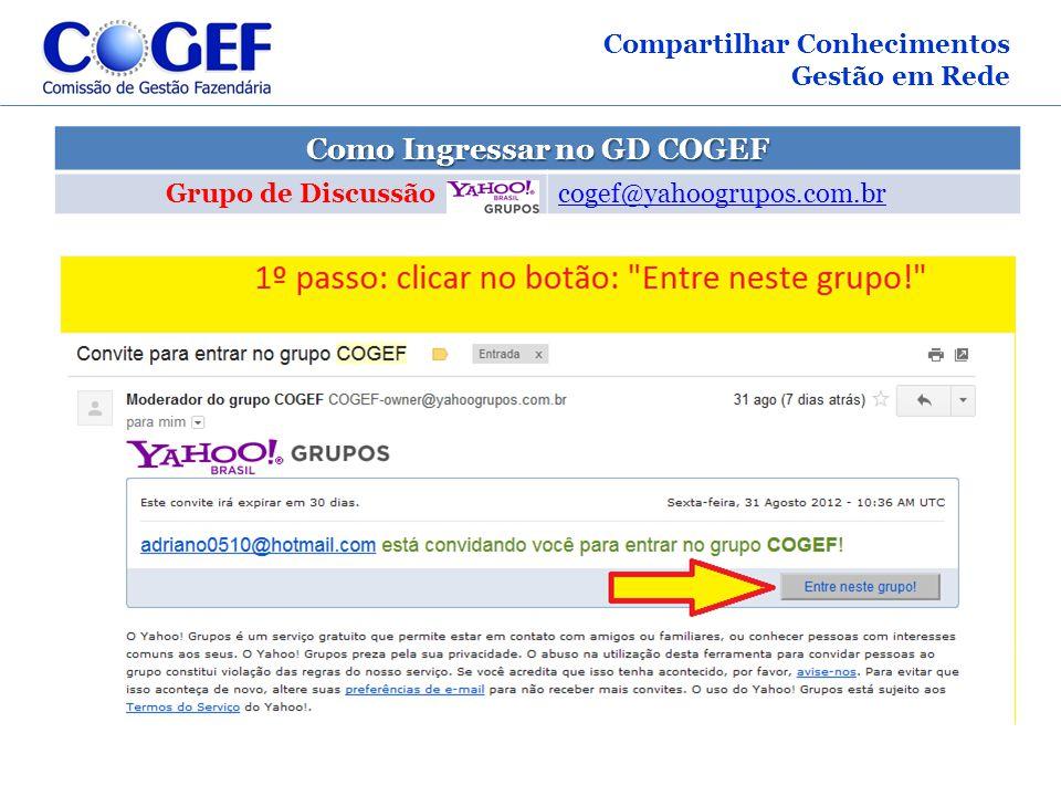 Como Ingressar no GD COGEF