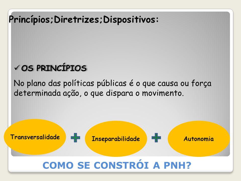 Princípios;Diretrizes;Dispositivos: